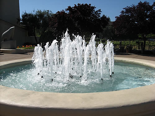 Ivory Quartzscape at Mondavi Winery fountain